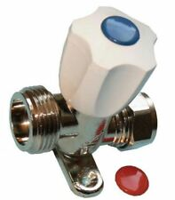 Chrome Washing Machine Valve with Backplate - PACK OF 2