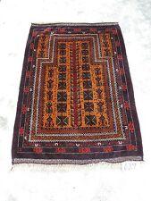 3x5ft. Vintage Afghan Balouch Wool Prayer Rug