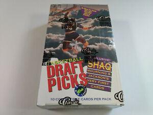 1992 Classic Draft Picks Basketball Cards Full Sealed Box x36 packs Shaq Rookie