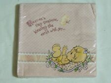 PRECIOUS MOMENTS~ 16  PINK LUNCH  NAPKINS HALLMARK  BABY SHOWER PARTY SUPPLIES
