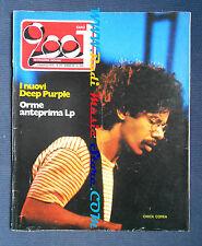 rivista CIAO 2001 10/1974 POSTER Uno Chick Corea Deep Purple Orme Horslips No cd