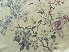 Sanderson Curtain Fabric MAGNOLIA & BLOSSOM 2.0m Amethyst/Silver Design 200cm