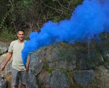 BLUE Smoke Grenade Gender Reveal Airsoft Photography Paintball