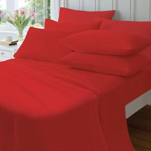 SO SOFT BRUSHED COTTON FLANNELETTE SHEETS CATHERINE LANSFIELD RED OR NATURAL