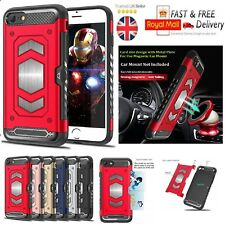 Heavy Duty Hybrid Armor With Card Slot Magnetic Car Mount Case For Apple iPhone
