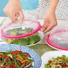 Useful 1PC Universal Leftover Lid Microwave Cover Airtight Seal Plate Topper