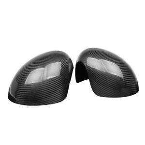 2x Carbon Fiber Wing Mirror Cover Caps Fit For Mini Cooper R53 JCW 2002-06