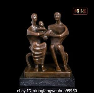 10 Abstract Art Sculpture Bronze Copper Marble Happiness Family Statue Figurine