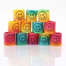 36 Pcs Mini Slinky Smiley Face Springs Rainbow Smiley Face Spring Party Bag