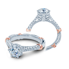BRAND NEW Verragio D-140-R 14KWR Gold with Diamond Engagement Ring
