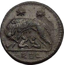 CONSTANTINE I Romulus Remus Wolf Rome Commemorative Ancient Roman Coin i57382
