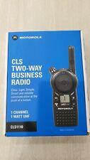 Motorola CLS1110 Two-Way Radio - Black