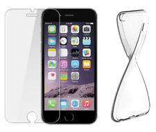 Panzerglasfolie + Hülle Schutz Hülle Silikon Schale Tasche Transparent 9H Glas