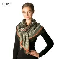 SCARF WOMEN'S PATTERN OLIVE  ONE SIZE NWT
