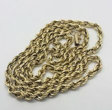 """14k Yellow Gold Mens  Rope Chain Necklace 23"""" 9.2 Grams"""