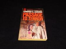 """Gold Medal d1737 $0.50 cover Edward S Aarons """"PASSAGE to TERROR"""" McGinnis"""
