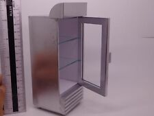 1:12 Scale Silver Painted Single Door Display Cooler Dolls House Miniature Shop