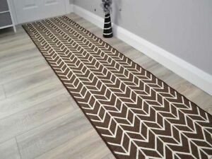 Brown Extra Long Wide Hall Hallway Corridor Very Narrow Floor Carpets Rugs Cheap