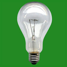 2x 300W Clear Filament GLS Large Bright Light Bulb Lamp ES E27 Edison Screw