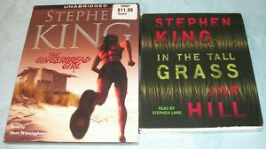 Stephen King 2 Titles Lot The Gingerbread Girl/In the Tall Grass (CD Audiobooks)