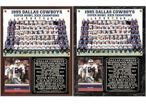 Dallas Cowboys Super Bowl XXX Champions Photo Card Plaque
