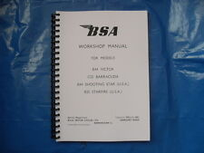 BSA C25,B25,B44VE,B44SS FACTORY WORKSHOP MANUAL1967-1968 MODELS UK AND US MODELS