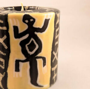 Lizard patterned candles - fair trade ethical Swazi candles | Gifts for climbers