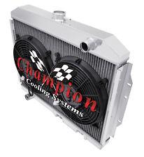 "4 Row Performance Champion Radiator W/ 2 12"" Fans for 1972 - 1976 AMC Gremlin"