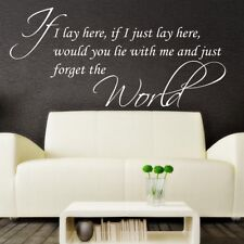 Wall Stickers Quotes IF I LAY HERE SNOW PATROL Wall Art Decor SVIL77
