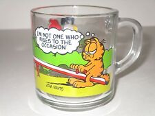 McDonald's 1980 Garfield Glass Collector Mug