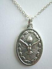 "Ladies Holy Spirit First Communion Chalice Medal Pendant Necklace 20"" Chain"