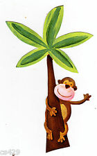 "3.5"" Jungle safari animal monkey palm tree peel & stick wall border cut out"