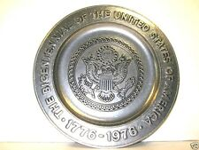 Bicentennial Pewter Collector Plate Eagle USA 1776 - 1976