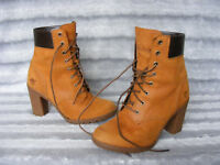 Ladies Womens Timberland Earthkeepers Glancy Suede Ankle Heeled Boots UK 4 EU 37
