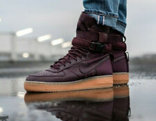 NIKE AIR FORCE 1 SF AF1 Trainers Boots - Deep Burgundy - UK Size 11 (EUR 46)