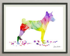 labrador retriever Hund 20x25 Kunstdruck Aquarell Poster Art Print