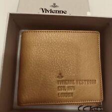 Vivienne Westwood Mens Heath Soft Leather Bifold Wallet - Tan