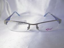 KAOS KK 206 Col.1 Blue Silver 52-17-145 Eyeglass Frames Italy Authentic New A029
