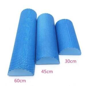 30/45/60cm EVA foam Yoga Roller Fitness Gym Exercise Massage Float Half Round
