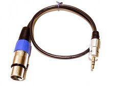 Roxdon 0,5 M Micrófono Plomo Xlr A 3,5 Mm Mini Jack