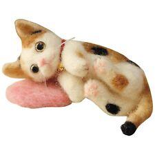 Tortoise Shell Cat - Needle Felting Animal Mascot Kit Instructions kitty wool