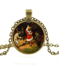 Fox Necklace Pendant - Christmas Jewelry -Fantasy Humor Woodland Animal Art Gift