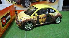 VOLKSWAGEN NEW BEETLE BEETLEMANIA Jaune 1/18 BURAGO KIT MONTE voiture coccinelle