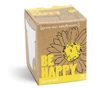 Grow Me - Sei Glücklich   Sonnenblumen Geschenkbox