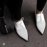 Stella McCartney white Oxford Brogues Shoes UK5 /EU38 Flats Heels Trainers