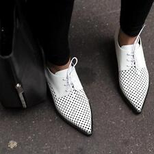 Stella McCartney white Oxford Brogues Shoes UK6 /EU39 Flats New