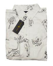Polo Ralph Lauren Boys White University Graphic Long Sleeve Button Front Shirt