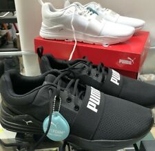 Mens Mesh PUMA Wired Shoes, Sneakers, Joggers, Runners. White Or Black
