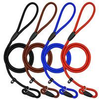 4pcs Strap Strong Nylon Rope Pet Dog Slip Training Leash Walking Lead Collar
