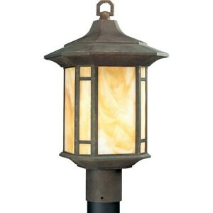 Progress Lighting Arts And Crafts One-Light Post Lantern - P5428-46